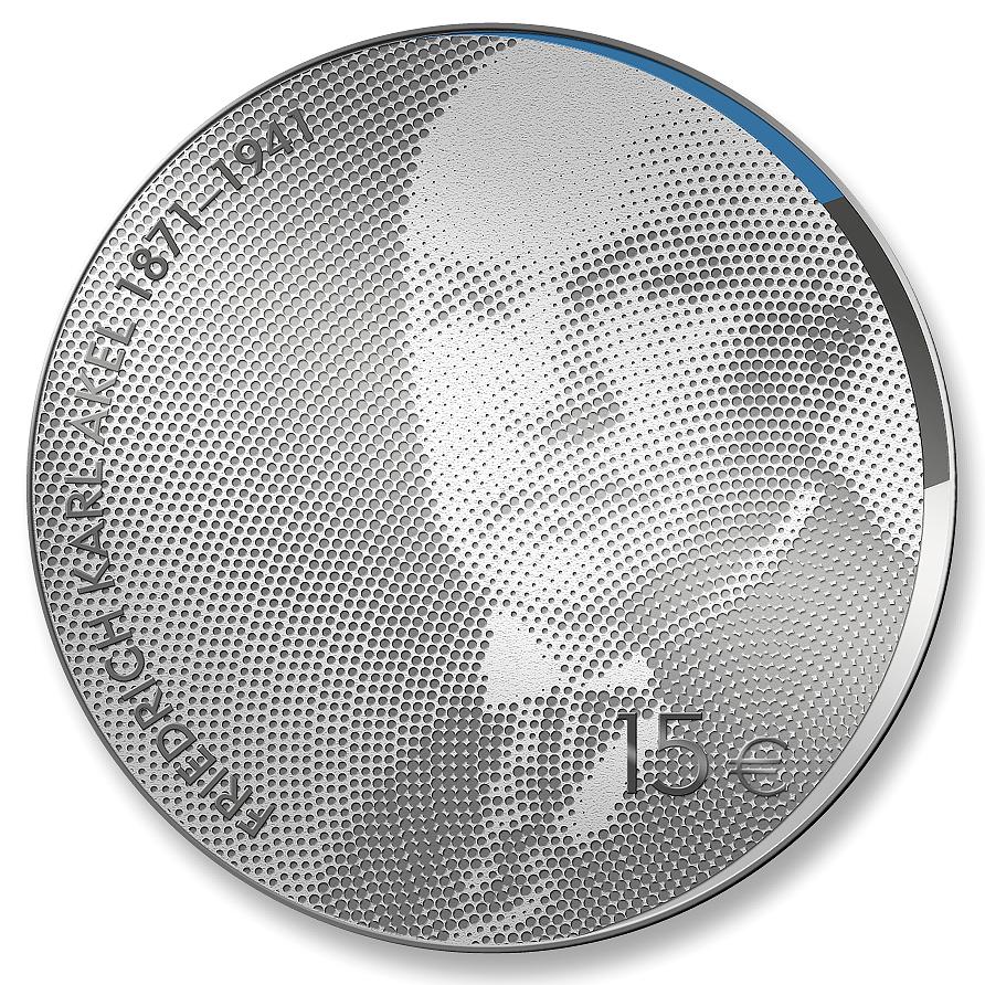 Riigimees Friedrich Karl Akeli 150. sünniaastapäevale pühendatud hõbedast meenemünt