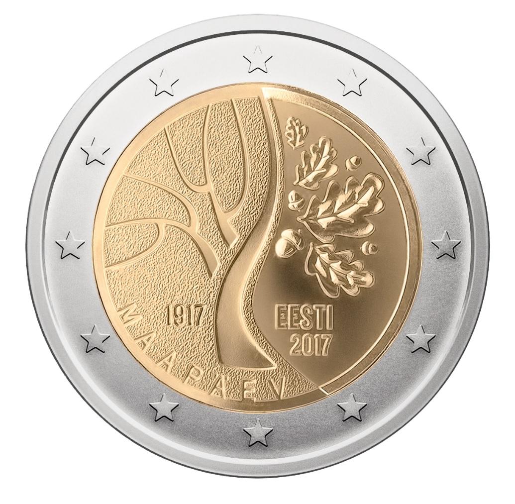 Eesti iseseisvusele pühendatud 2eurone mälestusmünt