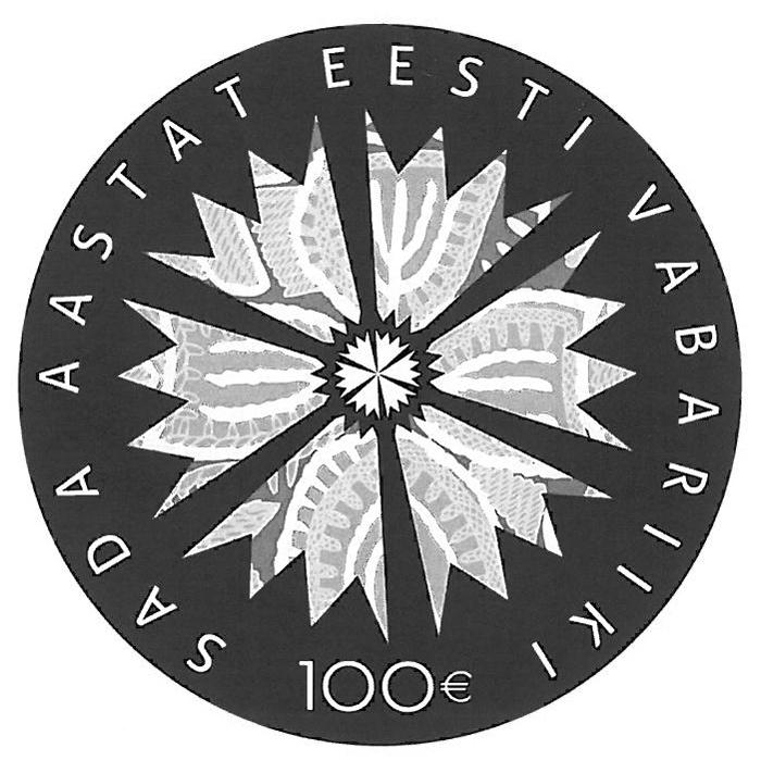 Eesti Vabariigi 100. sünnipäevale pühendatud kullast meenemünt