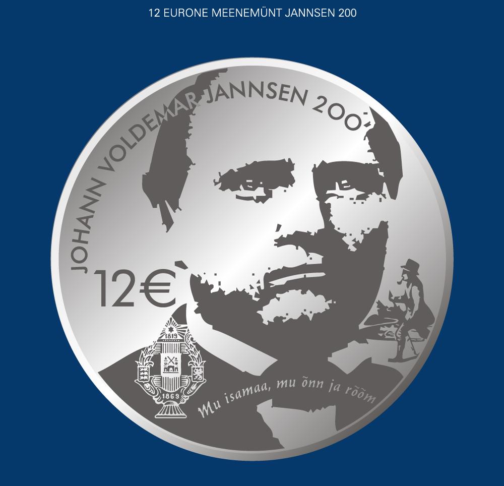 Johann Voldemar Jannseni 200. sünniaastapäevale pühendatud hõbemünt