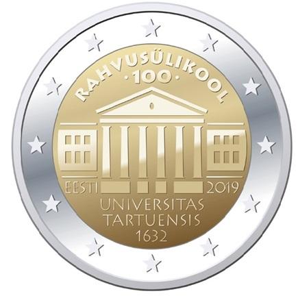 Reaks rahvusülikooli 100. aastapäevale pühendatud 2eurose mälestusmündi kujundus
