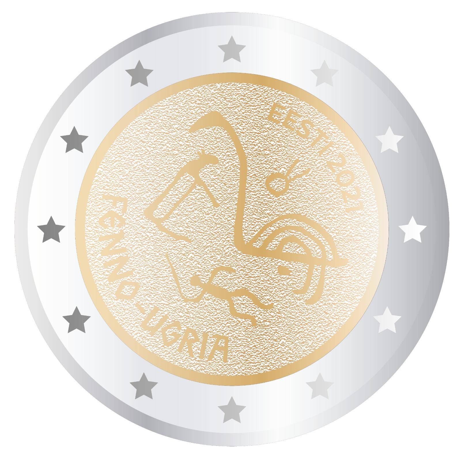 Soome-ugri rahvastele pühendatud erikujundusega 2eurone käibemünt