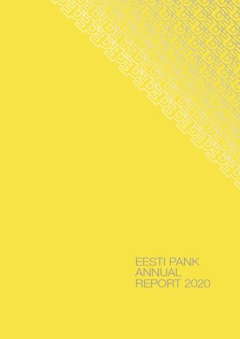 Publikatsiooni Eesti Pank Annual Report 2020 kaanepilt