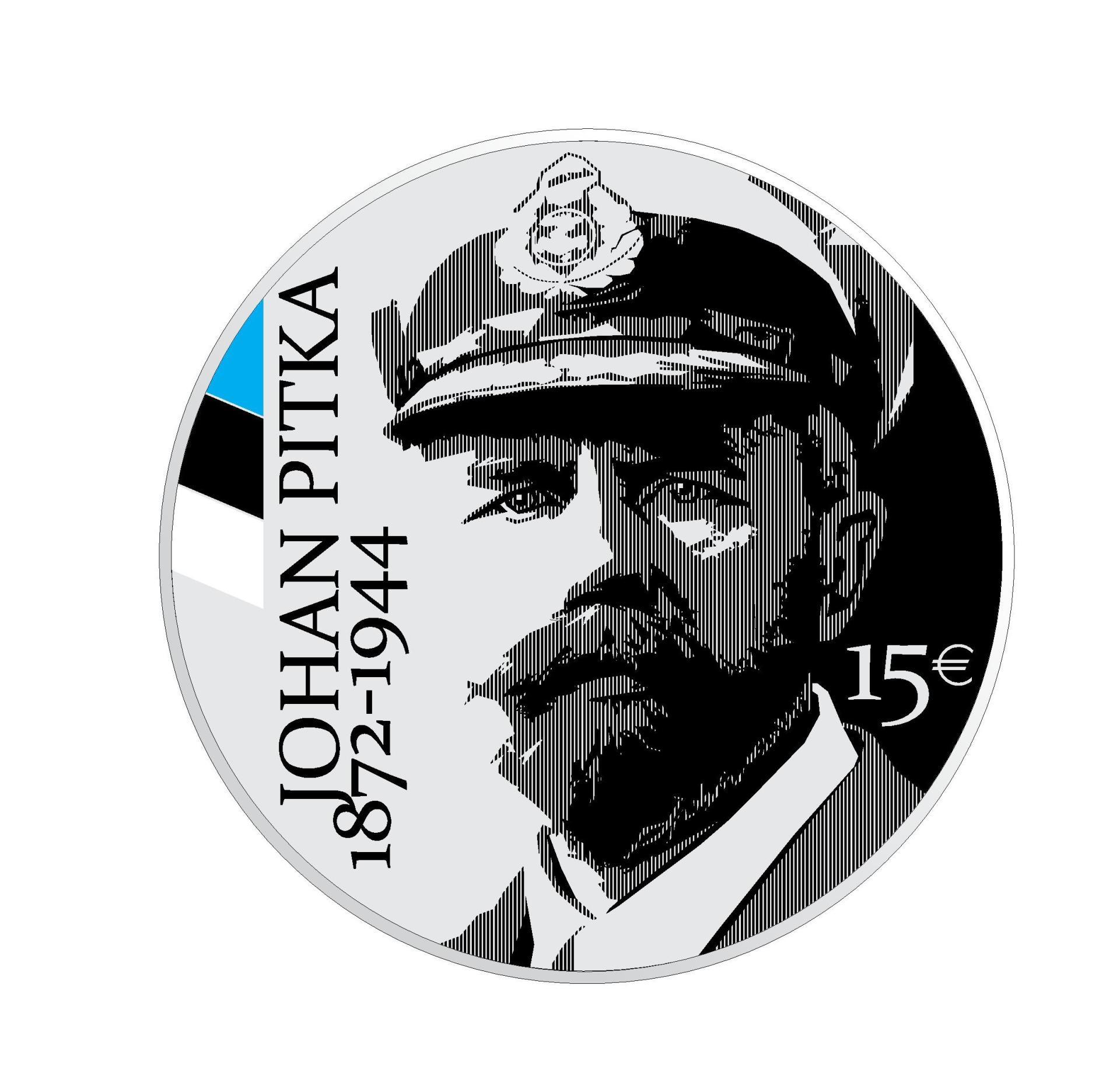Johan Pitka 150. sünniaastapäevale pühendatud hõbemünt