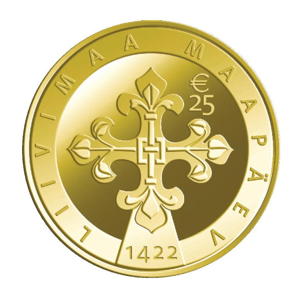 Liivimaa maapäevale pühendatud kuldmünt