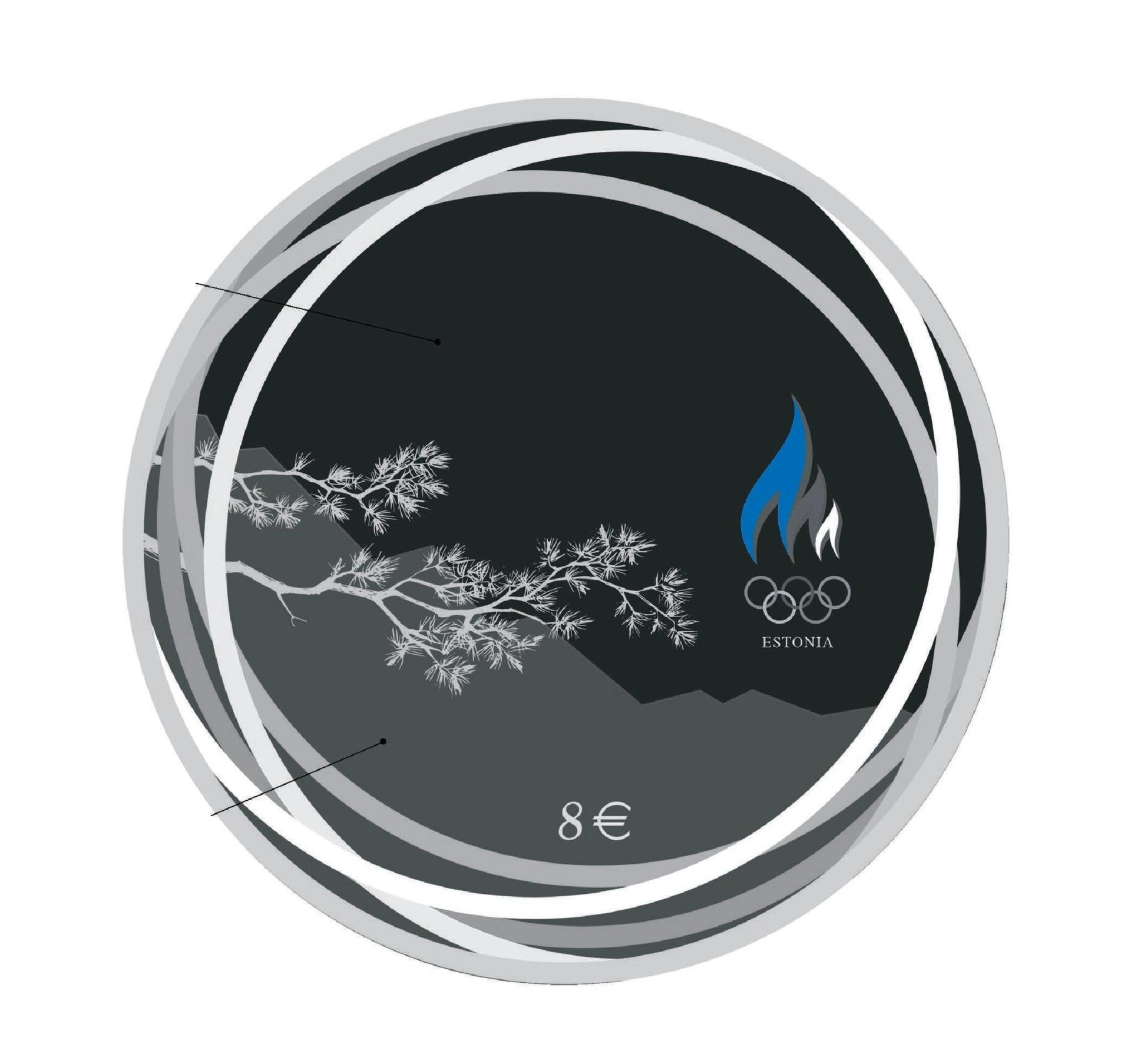 XXIV Pekingi taliolümpiamängudel osalevatele Eesti sportlastele pühendatud hõbemünt