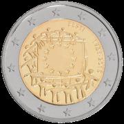 Euroopa Liidu lipu 30. aastapäevale pühendatud 2-eurone mälestusmünt