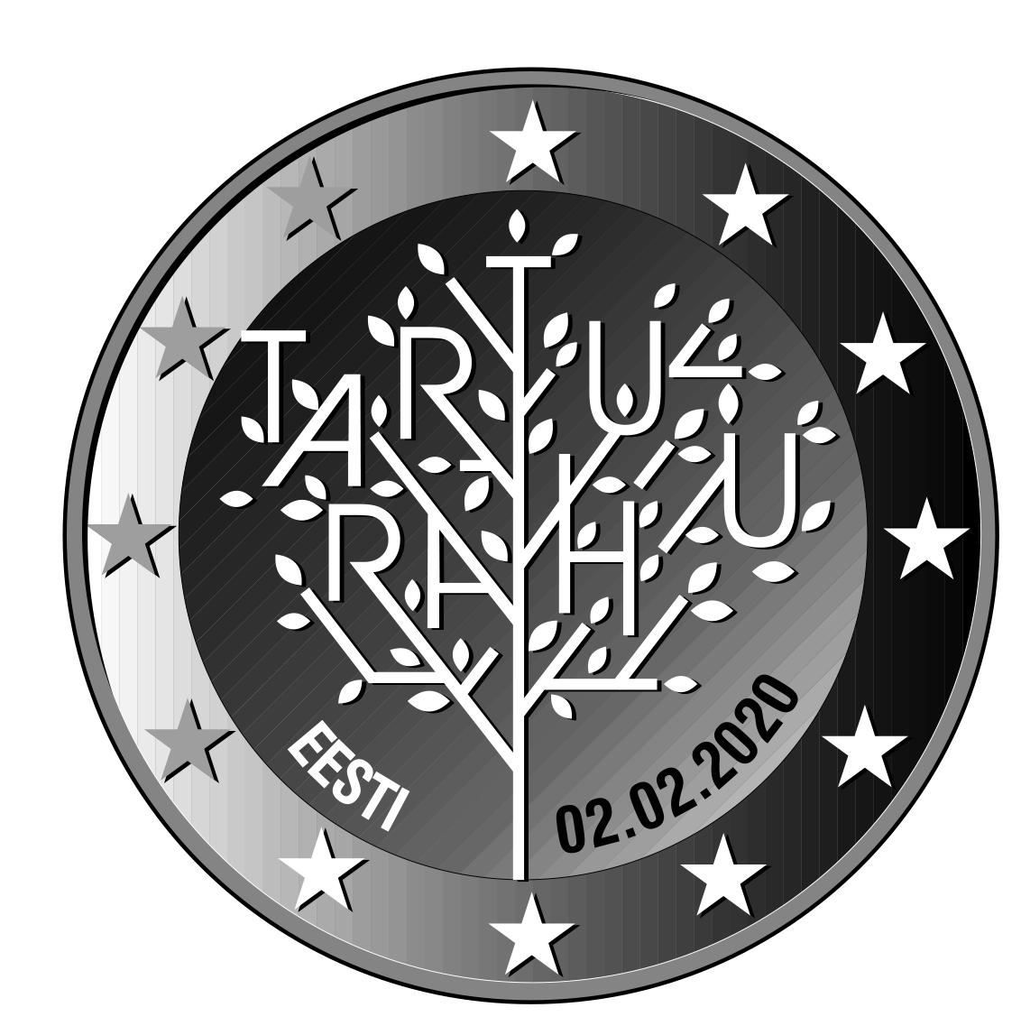 Tartu rahu 100. aastapäevale pühendatud 2eurose mälestusmündi kujundus